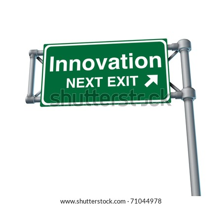 innovation invention inventive creative street road freeway sign high way sky green signage