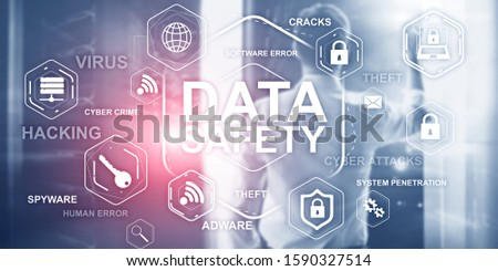 Innovation technology concept. Business industrial process automation structure on modern server room background.