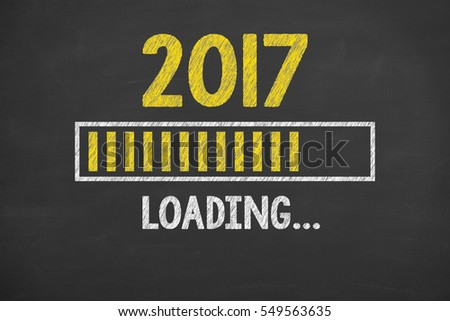 Innovation Technology Loading New Year 2017 on Chalkboard  #549563635