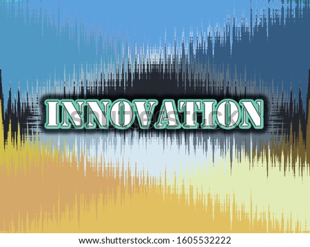 innovation text and background design