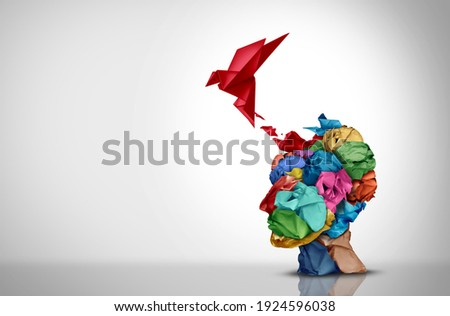 Innovative idea and designer creative mind concept or brainstorm ideas with smart design thinking 3D illustration style.