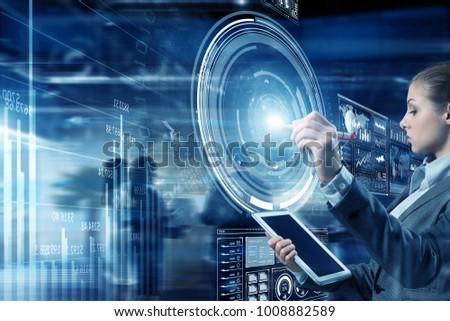 Innovative media technologies in use. Mixed media #1008882589
