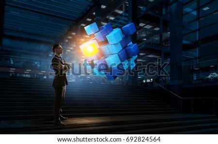 Innovative technologies integration. Mixed media #692824564