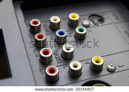 Input-output TV connectors
