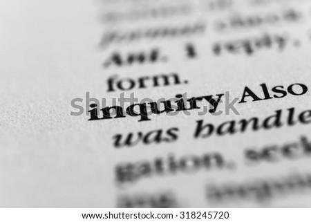 Inquiry Сток-фото ©