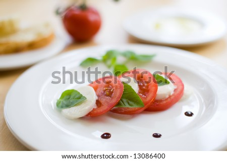 Insalata caprese - stock photo