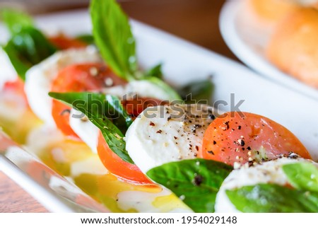Insalata caprese A delicious blend of tomatoes and herbs. Stok fotoğraf ©