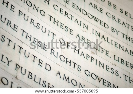 inscription in the jefferson...
