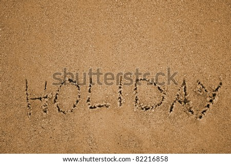 inscription in the sand
