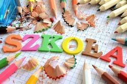 Inscription school in polish language