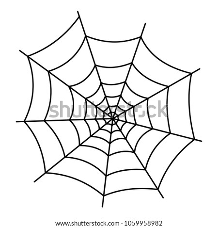 Insect cobweb icon. Outline illustration of insect cobweb icon for web