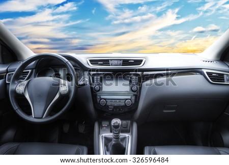 inside a car #326596484
