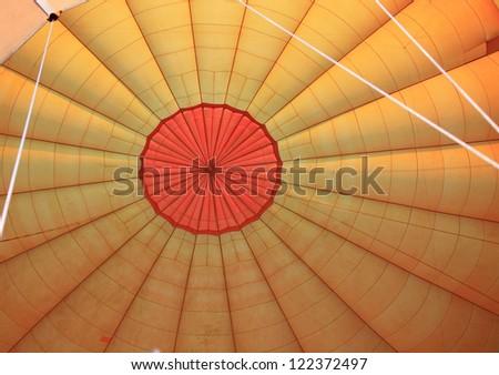Inside a hot air balloon destined for the Masai Mara Kenya Africa
