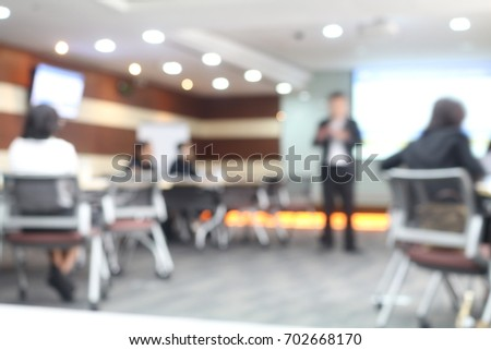 Inside a meeting room with blurred background #702668170