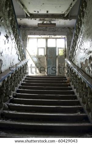 Inside abandoned old hospital