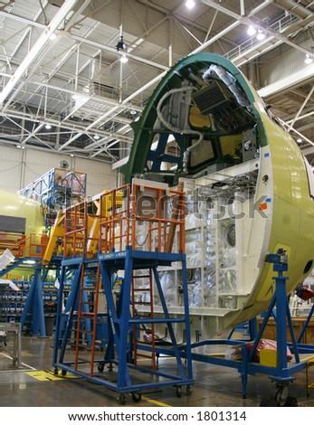 Inside Aerospace Manufacturing Plant