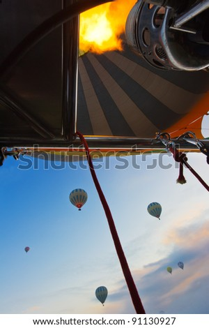 inside air balloon