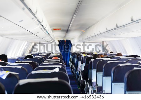 Inside airplane view #416532436