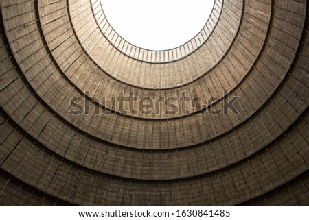 Inside an abandoned cooling tower