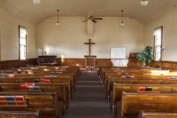Inside an old country church north of Potlach, Idaho.
