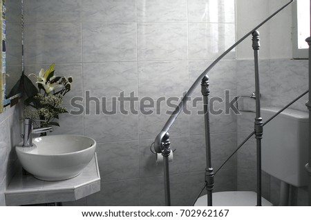 inside bathroom #702962167