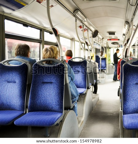 Inside bus - stock photo