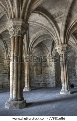 inside carracedo monastery  ...