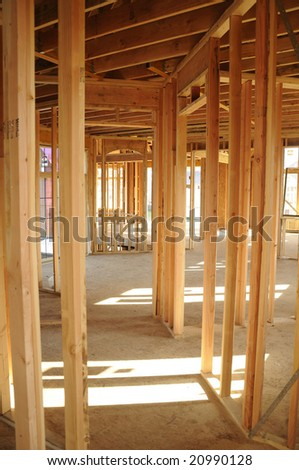 Inside construction of two level house