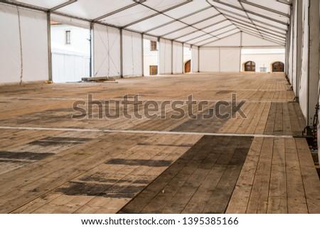 Inside empty Big Canvas Tent #1395385166