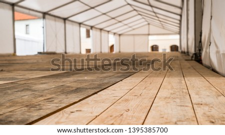 Inside empty Big Canvas Tent #1395385700
