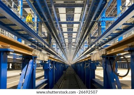 inside factory area