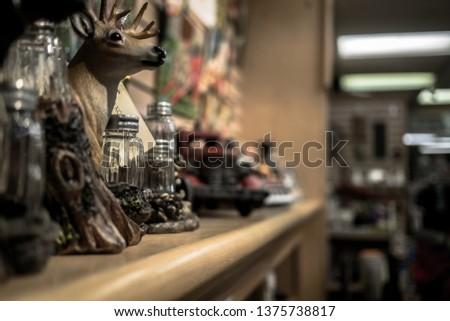 Inside gift shop at Banff