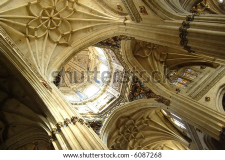 inside gothic cathedral
