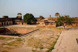 Inside, Gwalior Fort,  is a hill fort near Gwalior, Madhya Pradesh, India. Inscriptions and monuments found within the fort campus indicate that it existed as early as the beginning of the 6th century