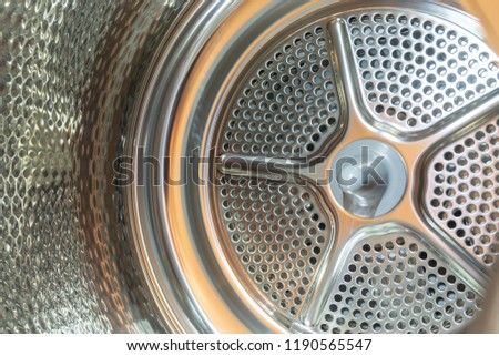 inside of a clothes dryer or tumble dryer