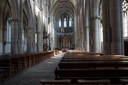 Inside of a French church. Very sharp picture
