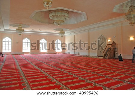 Inside of a mosque
