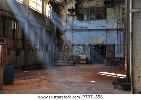 inside of an old factory