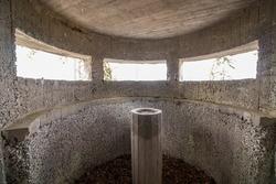 Inside of old bunker from world war