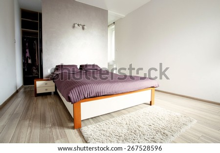 Inside of the new luxury clean bedroom