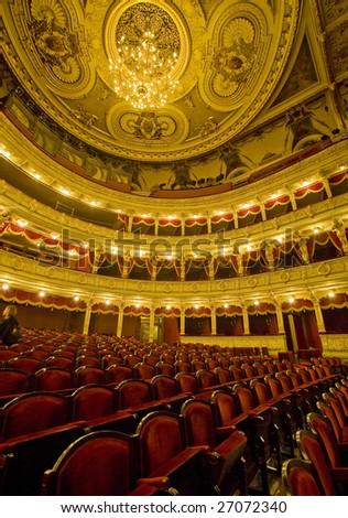 Inside of the Slowaczky theater, Krakow
