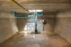 inside of underground water tank, confined space