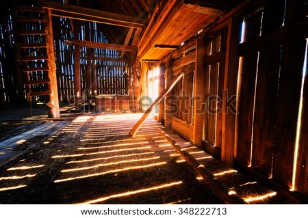 Inside Old Barn 348222713