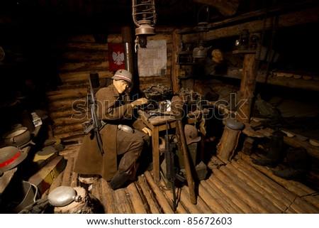Inside old bunker from II world war
