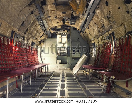 inside retro air cargo freighter