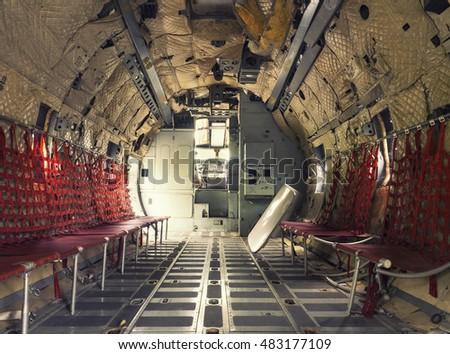 inside retro air cargo freighter