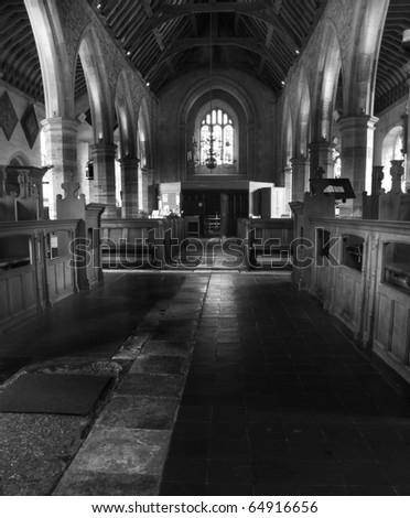 inside St Luke C Of E church  in Chiddingstone, Edenbridge in Kent england