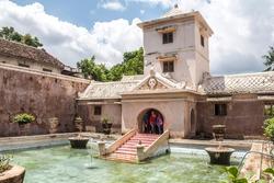 Inside Taman Sari water castle in Yogyakarta
