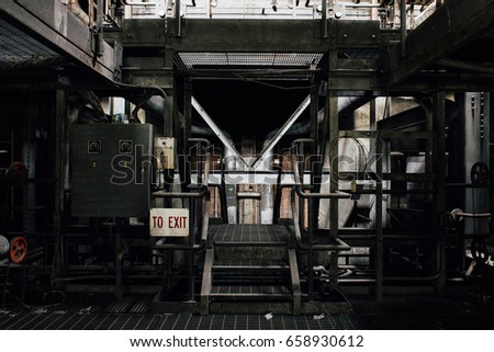 Inside the abandoned coal fired Hicking Power Station / Plant near Corning, New York.