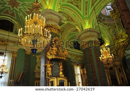 Inside the Admiralty in St-Petersburg, Russia